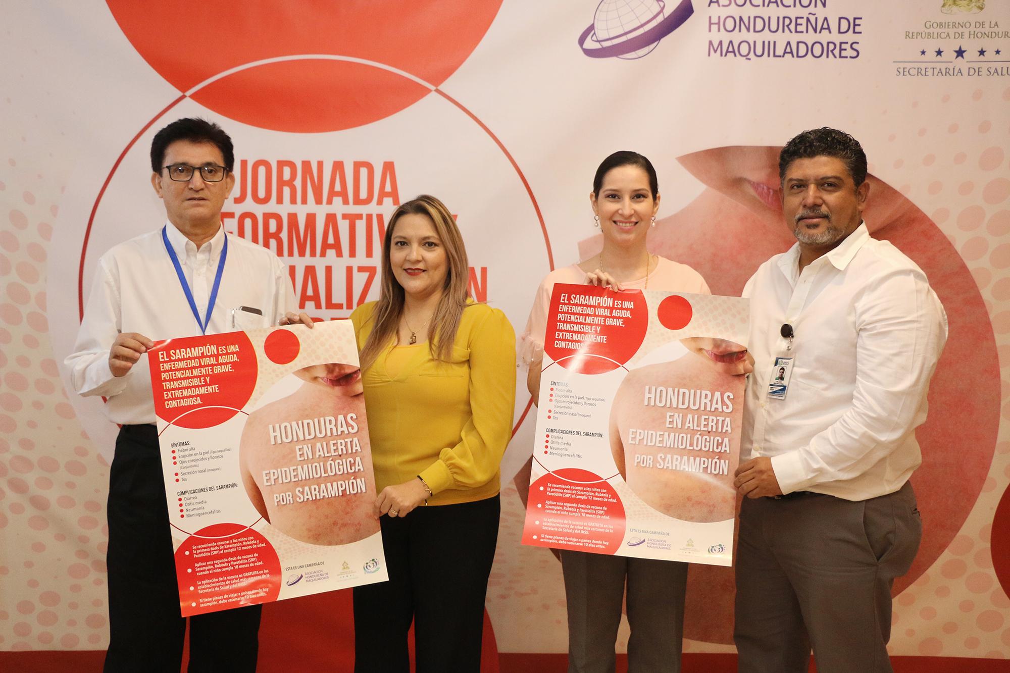 Ante alerta preventiva por sarampión realizan jornada informativa y de actualización para el sector textil-maquilador