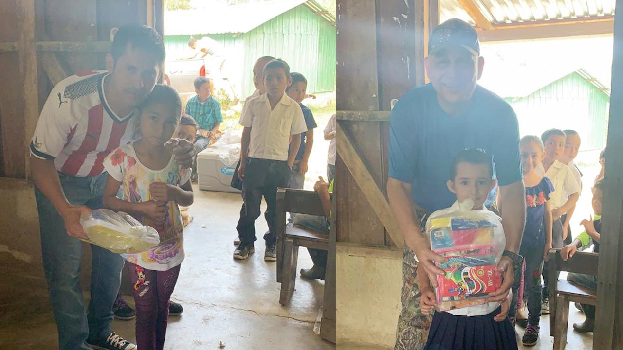 VOLUNTARIOS DEL ÁREA DE TEJIDO DE ELCATEX ENTREGAN ÚTILES ESCOLARES A CENTRO EDUCATIVO DE NUEVA CEIBITA EN LA CORDILLERA DE EL MERENDÓN