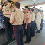 En ceremonia de ascensos,  el Benemérito Cuerpo de Bomberos de Honduras reconoce 25 años de servicio a varios Bomberos entre ellos Geovany Lara, Coordinador de la Unidad de Salud y Seguridad Ocupacional de la AHM