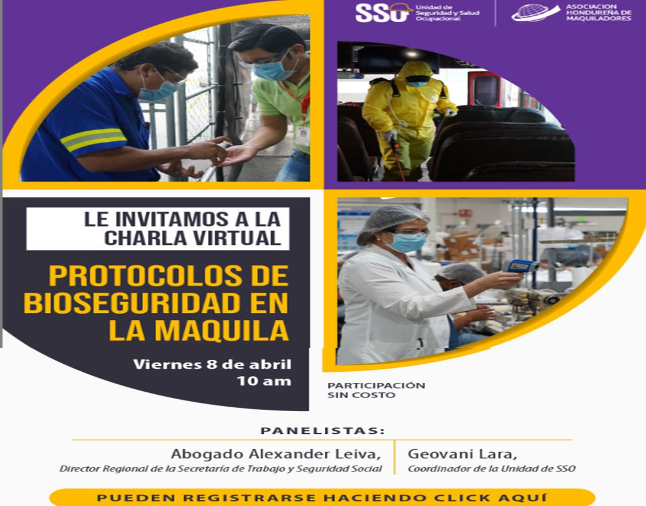"""AHM y Unidad de SSO organizan charla virual: """"Protocolos de bioseguridad"""" en la maquila"""