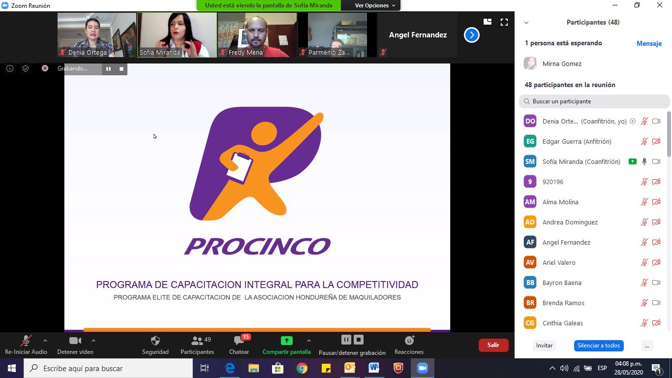"""""""Nueva Realidad, Nuevo Plan de Acción"""" otra exitosa charla virtual de Procinco"""