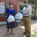 Más de 70 mil mascarillas y otros dona AHM a iglesias de San pedro Sula y otras instituciones