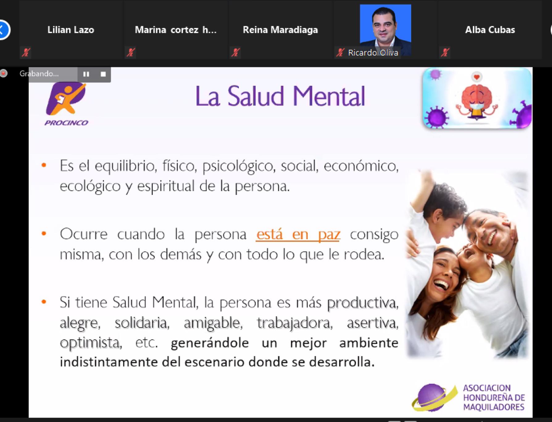 """WEBINAR: """"CLAVE DEL ÉXITO-SALUD MENTAL"""""""