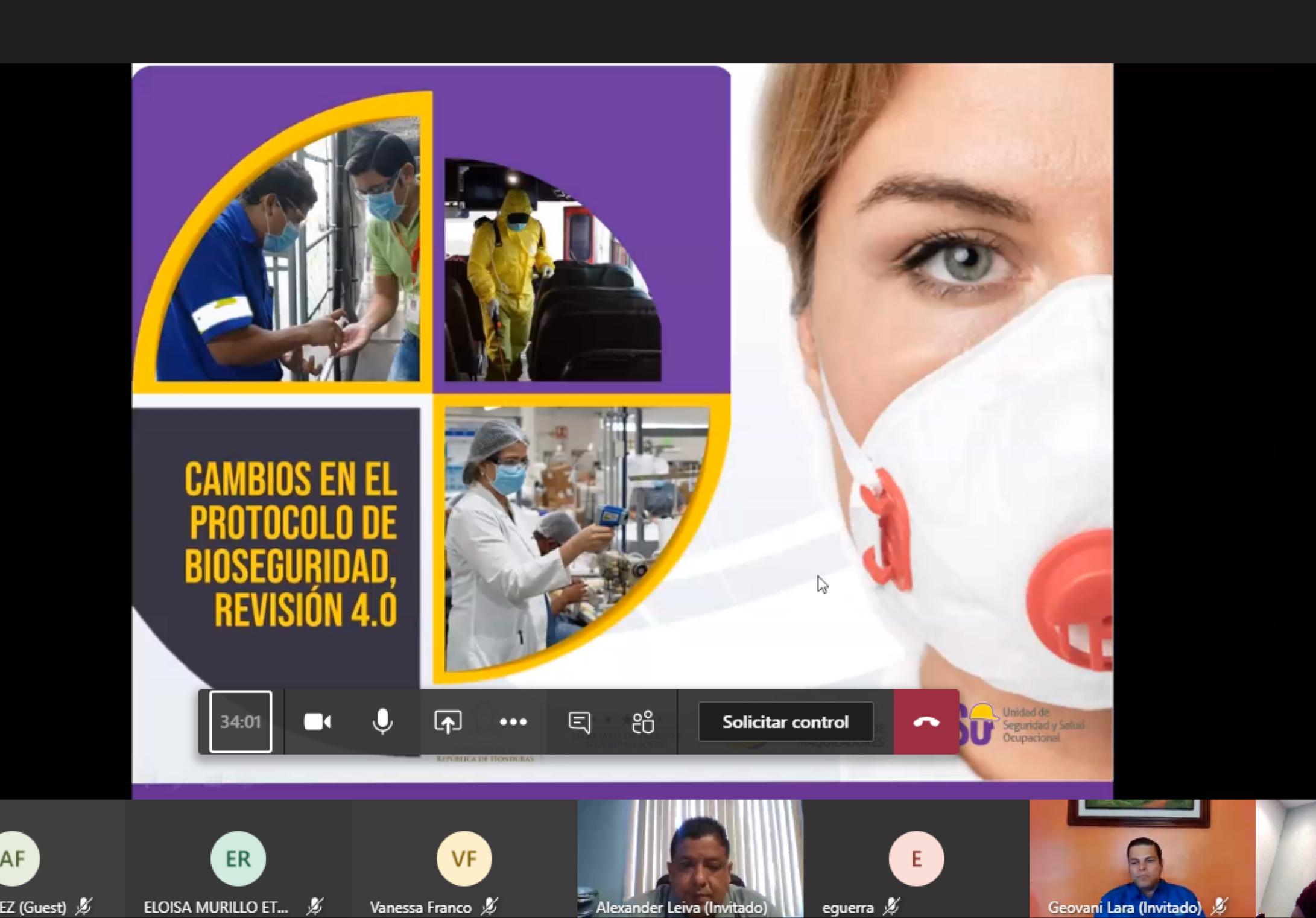 WEBINAR: CAMBIOS EN EL PROTOCOLO DE BIOSEGURIDAD, REVISIÓN 4.0