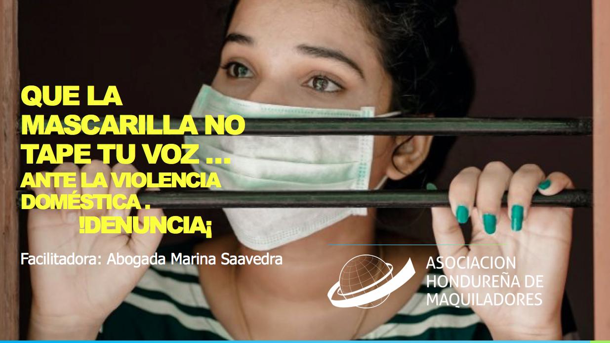 QUE LA MASCARILLA NO TAPE TU VOZ… ANTE LA VIOLENCIA DOMÉSTICA, ¡DENUNCIA!