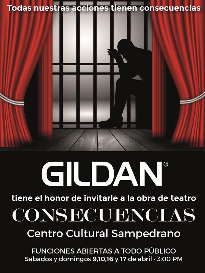 """Gildan invita a presenciar su obra teatral """"CONSECUENCIAS"""""""